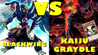 getlinkyoutube.com-Real Life Yugioh - BLACKWING vs KAIJU GRAYDLE November 2015 Format Scrub League