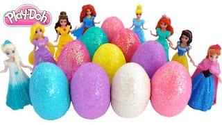 getlinkyoutube.com-Learn Colors Play Doh Surprise Eggs! Frozen & Disney Princesses Finger Family * RainbowLearning
