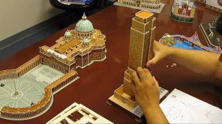 getlinkyoutube.com-CF048H 3D Puzzle Empire State Building assembly instruction HD part2