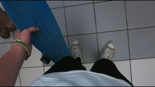 AIRPORT PENNY BOARDING!!