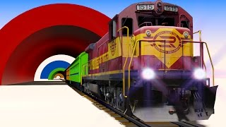 getlinkyoutube.com-VIDS for KIDS in 3d (HD) - Trains for Children and Tunnels, Fun Learning - AApV