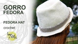 Tutorial Gorro Fedora Unisex Crochet o Ganchillo Hat (English Subtitles)