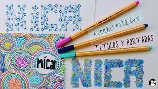 getlinkyoutube.com-Cómo hacer TÍTULOS y PORTADAS para cuadernos y agendas. ¡Decora tus libretas!