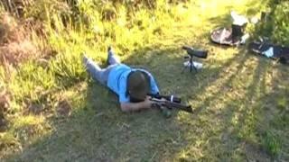 getlinkyoutube.com-Airgun Sumatra 2500R .22 Long Range shots 150 meters 164 yards