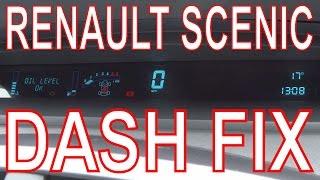 Renault Scenic Dashboard Repair. Fix Digital Dash Panel. Mend Faulty/Failed Display.