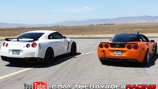 getlinkyoutube.com-Supercharged C6 Z06 vs GTR vs GT500 vs Twin Turbo Z06