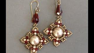 getlinkyoutube.com-Sidonia's handmade jewelry - Oriental earrings - Beading tutorial