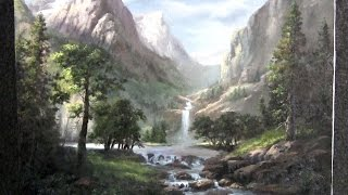getlinkyoutube.com-Painting | Sunlit Mountain Pass | Paint with Kevin Hill