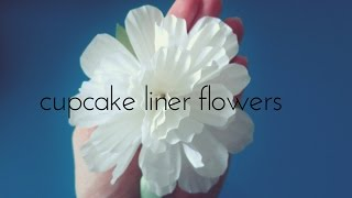 getlinkyoutube.com-Cupcake Liners Flowers- 2 minute DIY