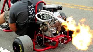 getlinkyoutube.com-Fire Breathing motorized Drift Trike