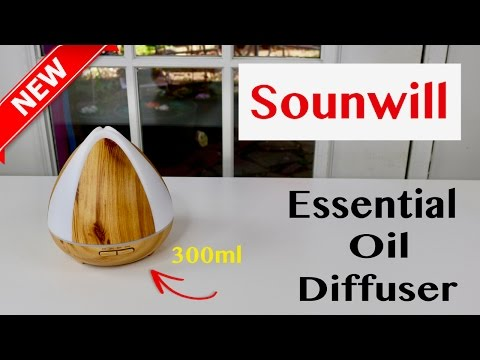 😍 SOUNWILL  Essential Oil Diffuser 300ml - Review ✅