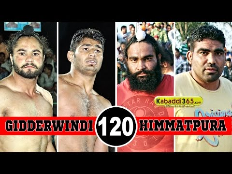 Gidderwindi Vs Himmatpura Best Match in Hamirgarh (Bathinda) By Kabaddi365.com
