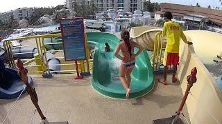 Green Body Water Slide at Splash Jungle Water Park