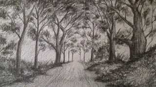 getlinkyoutube.com-Cómo dibujar un sencillo paisaje a lápiz,aprender a dibujar bocetos de paisajes a lápiz