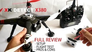 getlinkyoutube.com-XK Detect X380 GPS QuadCopter Drone Full Review - [Setup, Flight Test, Pros & Cons]
