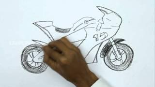 getlinkyoutube.com-How to Draw a Race Bike
