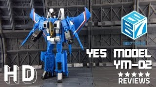 getlinkyoutube.com-Yes Model YM-02 BB7 KO Transformers Masterpiece Thundercracker MP11T review