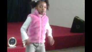 Tia dancing at a talent compettion in London! width=