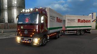 getlinkyoutube.com-[ETS2 v1.19.1] Mercedes Benz Mega Mod + Tandem Mod