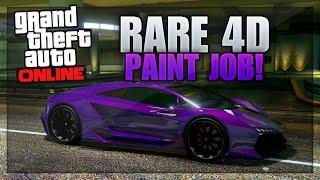 GTA 5 Paint Jobs: RARE 4D Paint Job Tutorial (GTA 5 4D Violet Trance Paint Job)
