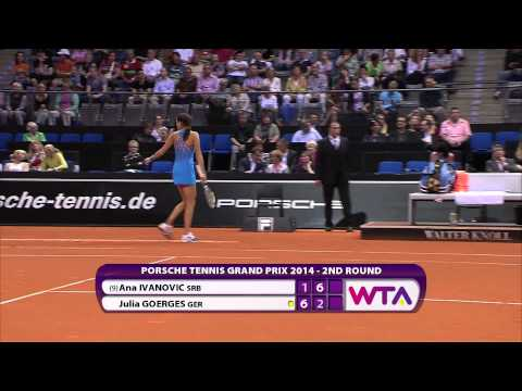 Ana Ivanovic (SRB) vs Julia Goerges (GER) 24 April 2014 - Porsche Tennis Grand Prix