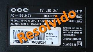 getlinkyoutube.com-Resolvido o problema da TV CCE - LED24TV
