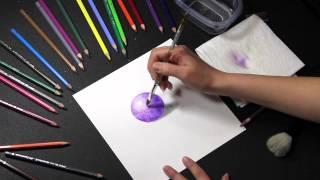 getlinkyoutube.com-COLORED PENCIL: How to Use Water Soluble Colored Pencils (Watercolor Pencils)
