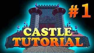 getlinkyoutube.com-Part 1, How to Build a Castle with Round Towers in ARK Survival Evolved