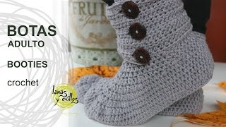 getlinkyoutube.com-Tutorial Botas Crochet o Ganchillo Booties