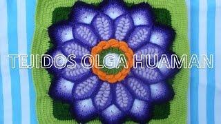 getlinkyoutube.com-Flor grande en punto rococo de 12 pétalos video 4