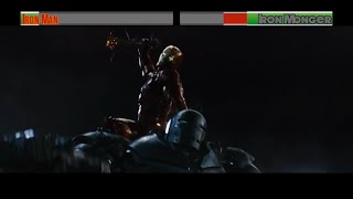 Iron Man vs Iron Monger...with healthbars