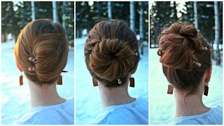 3 Easy DIY Updos for New Years