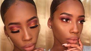 getlinkyoutube.com-Glam Holiday Makeup |Tayo Arts