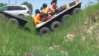 getlinkyoutube.com-Argo ATV Amphibious Vehicle Compared To Four Wheeler And HUV