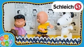 getlinkyoutube.com-Peanuts Charlie Brown Classic Playset by Schleich: Snoopy ToyRap Toy Review