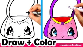 getlinkyoutube.com-How to Draw a Purse Cute + Easy - Fun2draw