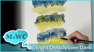 getlinkyoutube.com-Painting Light Foliage Over Dark Backgrounds in Watercolor