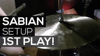 First play on my new Sabian cymbals setup!