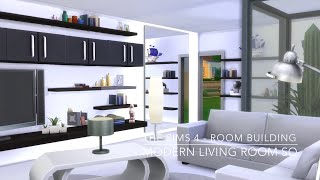 getlinkyoutube.com-The Sims 4 - Room Building - Modern Living Room SQ