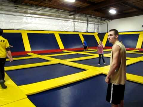 More Insane Trampoline Jumps and Tricks (including a 360 Gainer) at Sky High Sports in Portland!