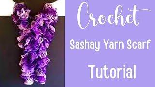 getlinkyoutube.com-How to crochet a Red Heart Sashay Yarn Scarf!