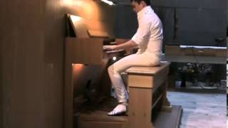 getlinkyoutube.com-Cameron Carpenter Pipe Organ Bach 541 * Improvised Cadenza *