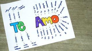 getlinkyoutube.com-TE AMO - PASO A PASO (LIBRETA PARA NOVIO)♥