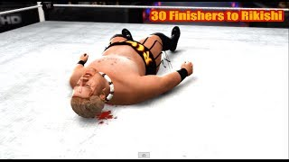 getlinkyoutube.com-WWE 13 | 30 Finishers to Rikishi
