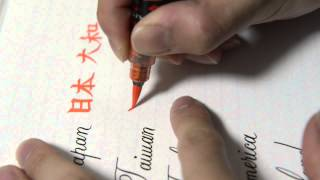 Fountain Pen Writing [country Name English & Japanese Kanji] Mistake