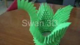 getlinkyoutube.com-How To Make Swan 3D Origami Tutorial By DorianSol
