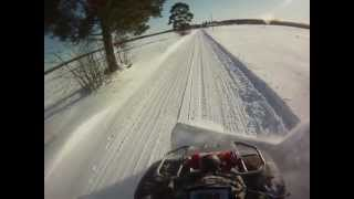 getlinkyoutube.com-snow plowing honda rincon 680 finland 2012