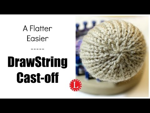 Flat Drawstring Bind-off / Cast-off on the Loom - Another Version
