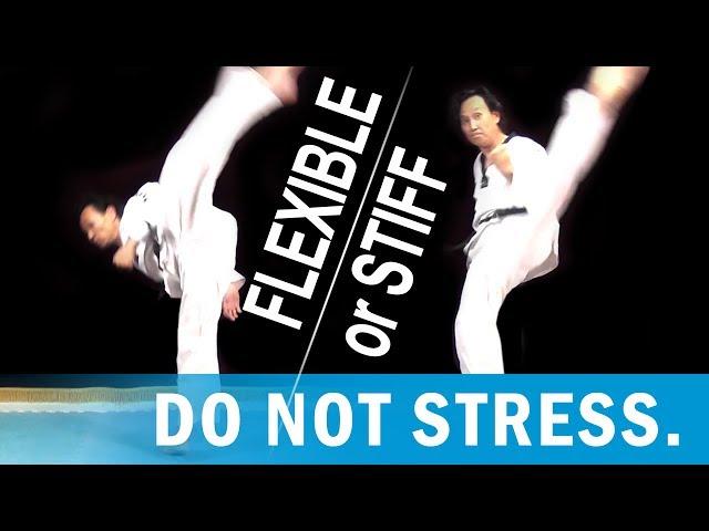 Are you stiff? Variations on Taekwondo high kicks.