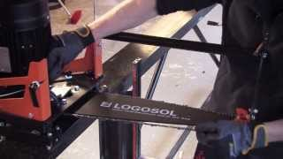 getlinkyoutube.com-E8 Speed Saw   New Stronger Electric Saw for High-Efficiency Log Sawing   LOGOSOL